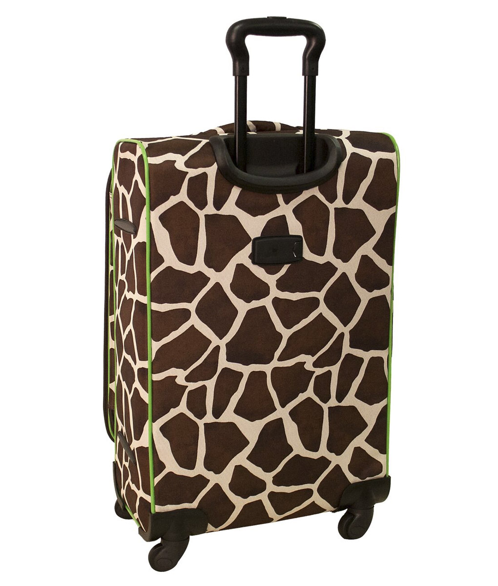 American Flyer Animal Print Giraffe Green 5 Piece Spinner