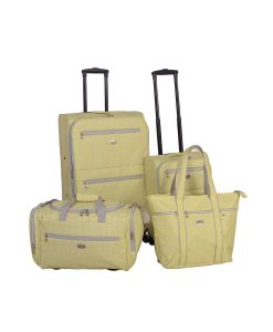 American Flyer Meander Yellow 4-Piece Luggage Set