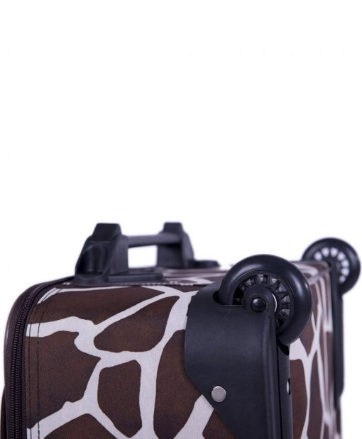 American Flyer Animal Print Giraffe Brown 5-Piece Luggage Set