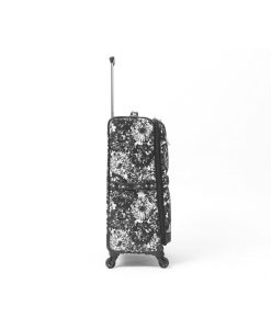 "Isaac Mizrahi Boldon Black White 26"" 4-Wheel Spinner"